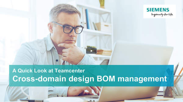 A quick look at Teamcenter - BOM management